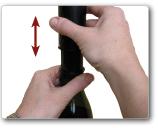 Pomp om de wijnfles vacuum te zuigen
